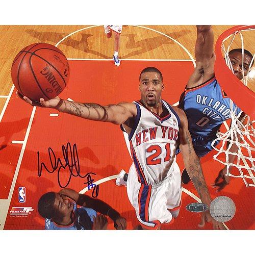 NBA New York KnicksウィルソンチャンドラーBackboard Camレイアップvs. Thunder写真、6 x 20インチ   B00EWPGVSE