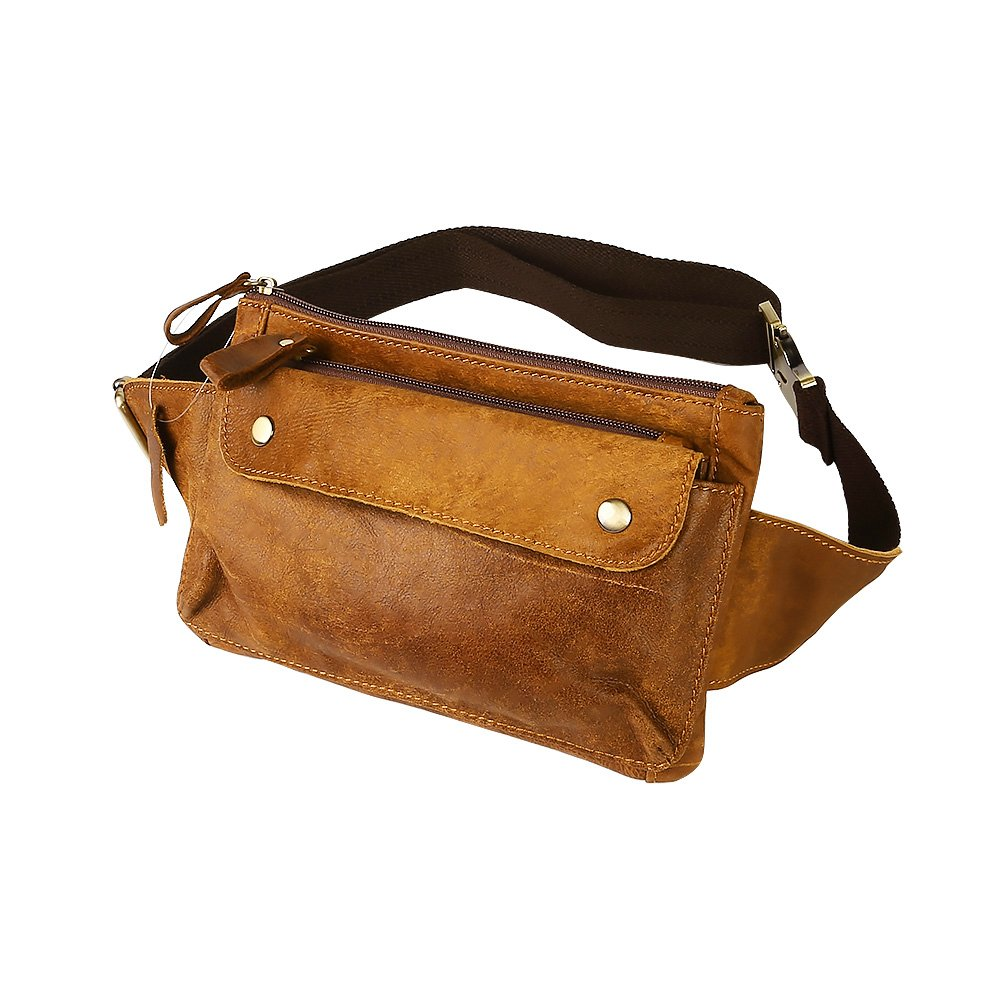 Travables Genuine Leather Waist Bag Fanny Pack