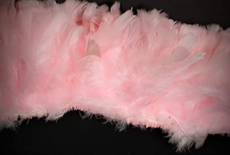 "PEACH 4-6/"" Feathers Trim//Craft//Costume//Halloween 2 Yards HACKLE FRINGE"