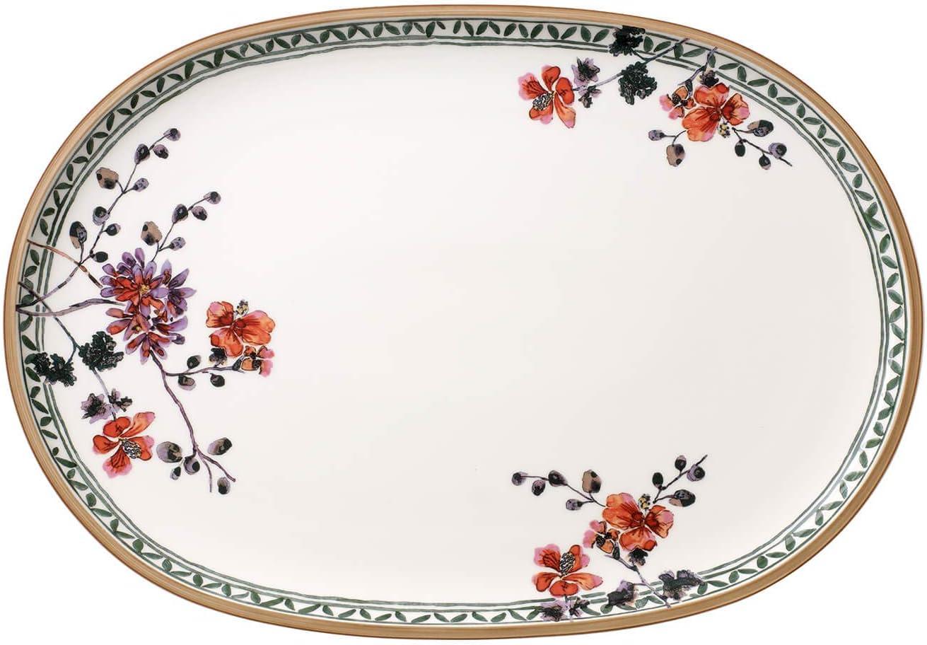 Villeroy & Boch Artesano Provençal Verdure - Plato ovalado para pescado, 43 x 30 cm, porcelana premium, color blanco/colorido