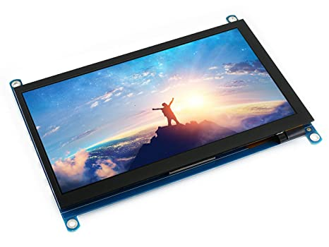 Waveshare 7inch HDMI LCD (H) 1024x600 Configurable Resolution IPS Capacitive Touch Screen,Game