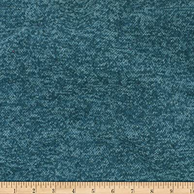 49db8c6686c8 Amazon.com  TELIO Knit Knack Brushed Sweater Knit Dark Teal Fabric ...