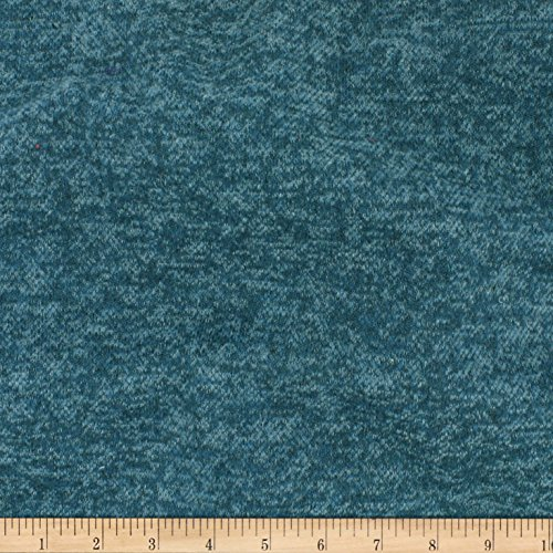 (TELIO Knack Brushed Sweater Knit Dark Teal Fabric by The Yard)
