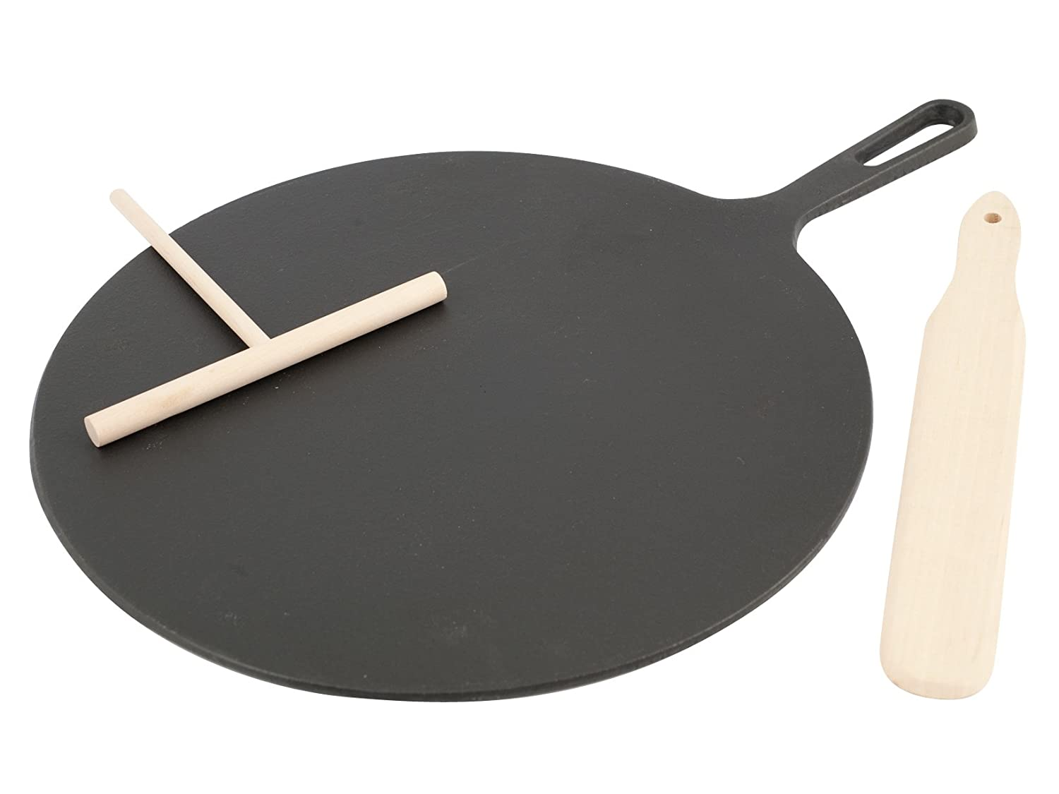 Cast Iron Crêpe and Omelette Pan with Spatulas Ilsa