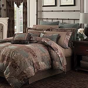 Amazon Com 4 Piece Bold Jacquard Themed Damask Comforter