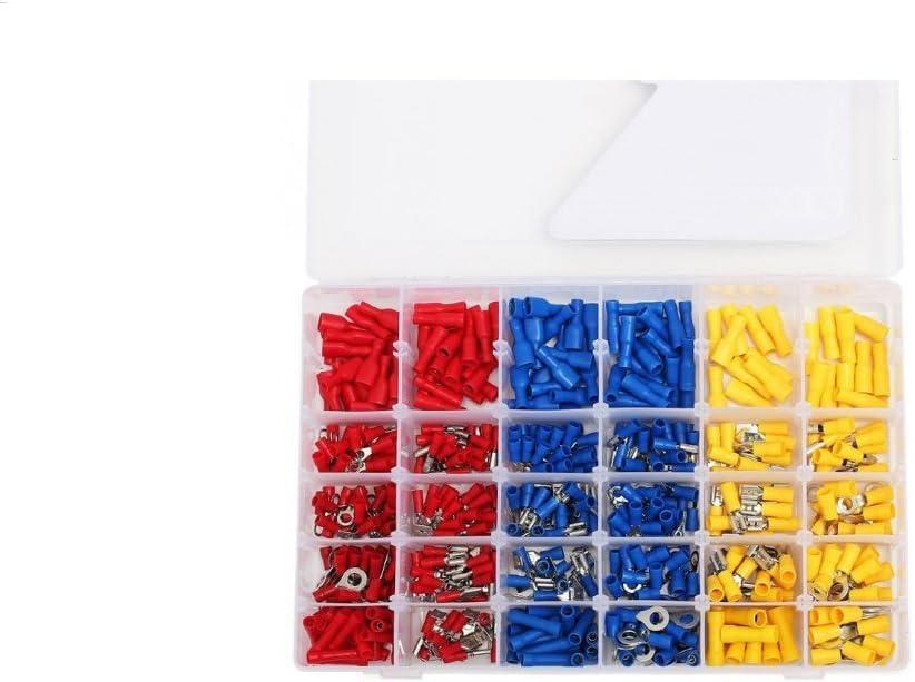 Shentian Bo/îte de 480/cosses /électriques isol/ées /à sertir pour Fil Connecteurs Rouge Jaune Bleu assortis