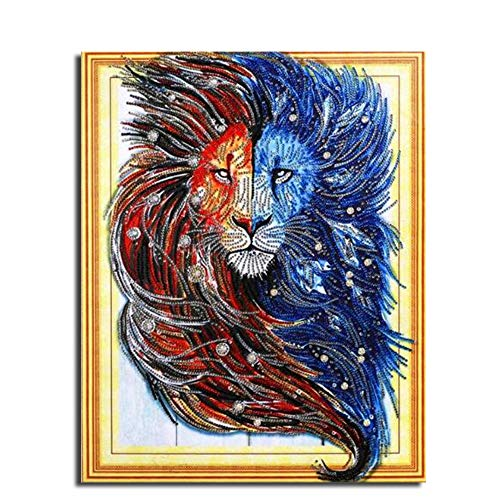 Lion Target - MTinHD 16x20 inch 5D Diamond Painting by Number Kits, King Lion