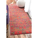 nuLOOM Persian Mamluk Medallion Orange Runner Rug (2 8 x 8 )