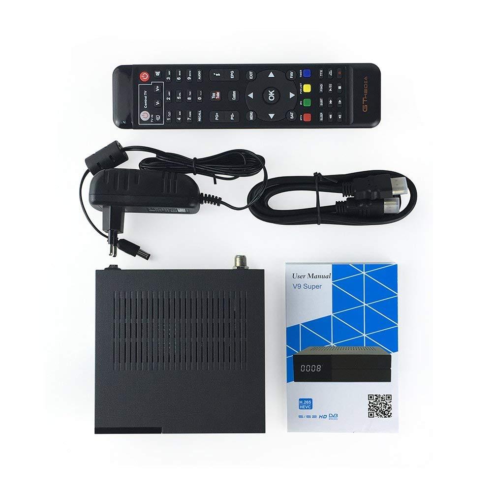 con Wifi incorporato GTMEDIA V9 S/ÚPER DVB S2 Ricevitore satellitare TV Digitale decodificatore satellitare H.265 Soporte 1080P IPTV Full HD PowerVu Biss Newca CCCAM
