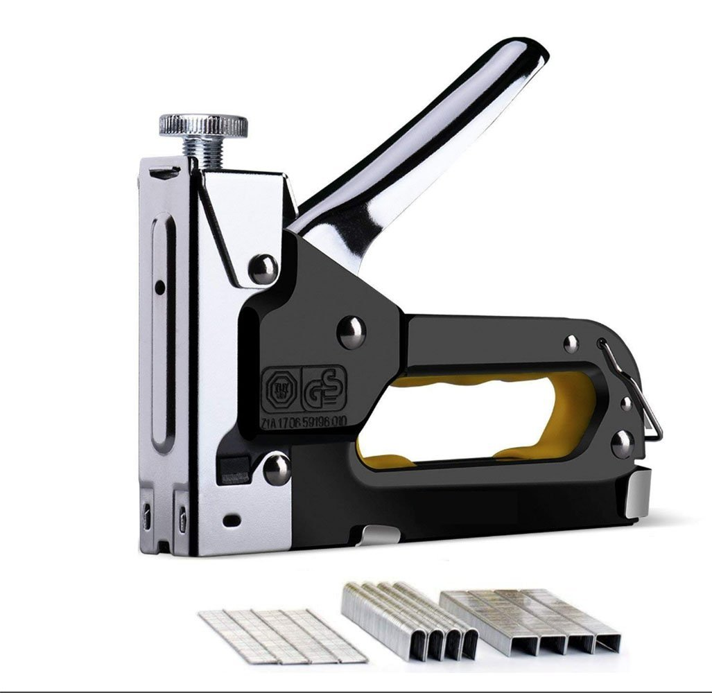 3 in 1 Heavy Duty Staple/Brad Nail Gun, 3 Way Tacker with 600 Staples for Fixing Material, Decoration, Carpentry, Furniture, Doors And Windows, Billboards
