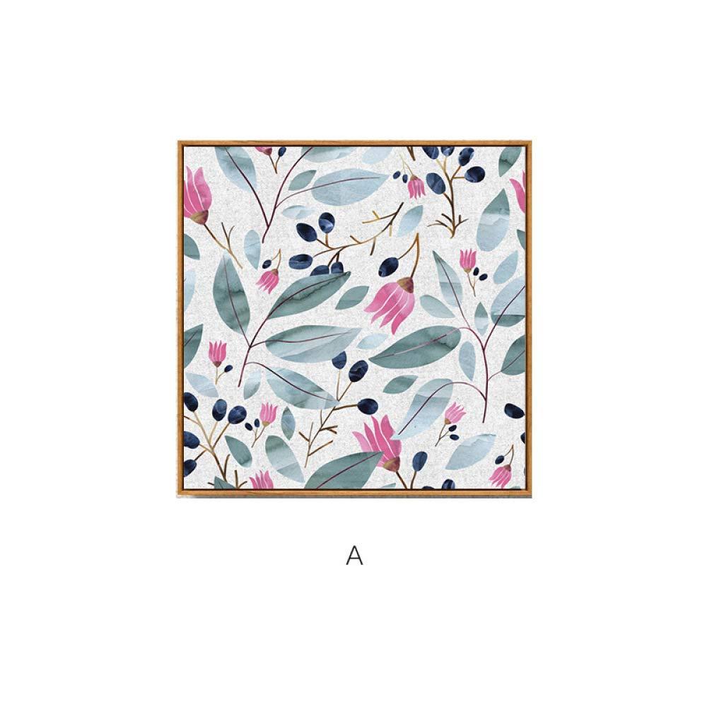 Pinturas de Fantasia, pinturas decorativas simples de plantas mediterráneas, bodegones, pintura elegante y multi-pintura, versión vertical combinada con marco para bloquear la pintura sin marco,E,40  40 CWJ