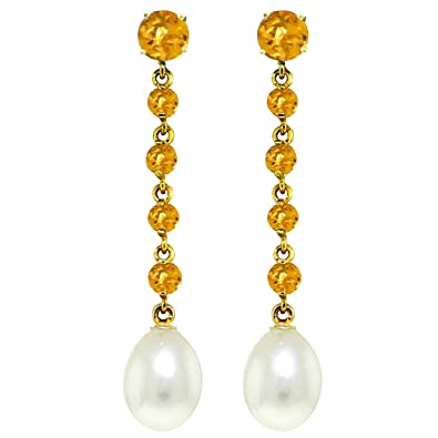 Amazon alarri 10 carat 14k solid gold chandelier earrings alarri 10 carat 14k solid gold chandelier earrings citrine pearl mozeypictures Gallery