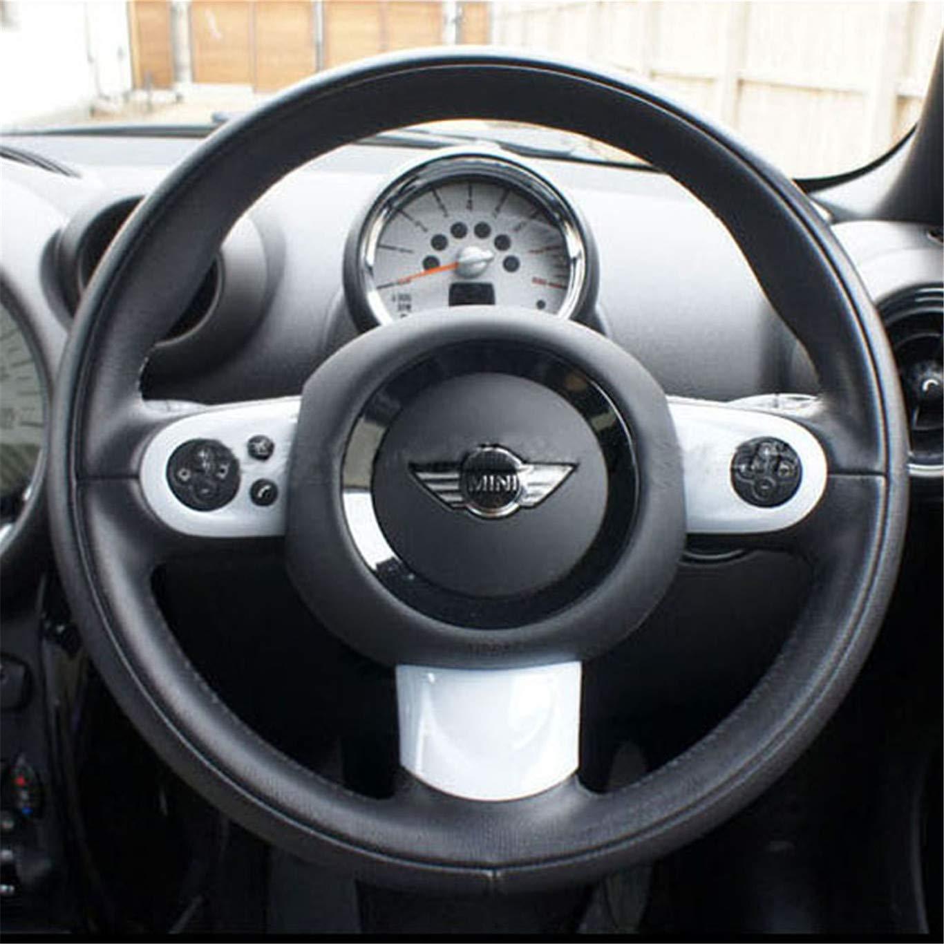 HDX Copertura per cruscotto del Volante in ABS per Mini Cooper R55 Clubman R56 Hatchback R57 Covertible R58 Coupe R59 Roadster R60 Countryman R61 Paceman