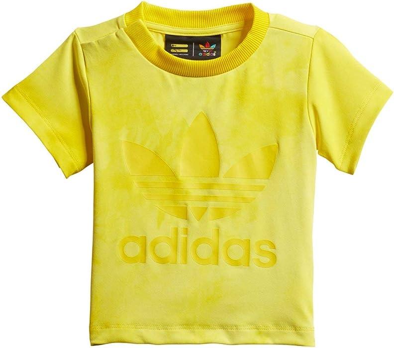 42b61cd2e7fda adidas Originals Pharrell Williams HU Holi Infants T-Shirt Yellow cz0989  (Size 6M)