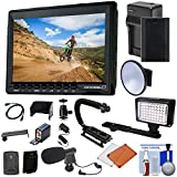 "Cam CADDIE Portable 7"" Camera-top Field HD IPS LCD Monitor (Canon LP-E6) + Ball Head + Sun Hood + HDMI Cable + Battery & Charger + LED Light + Microphone Kit"