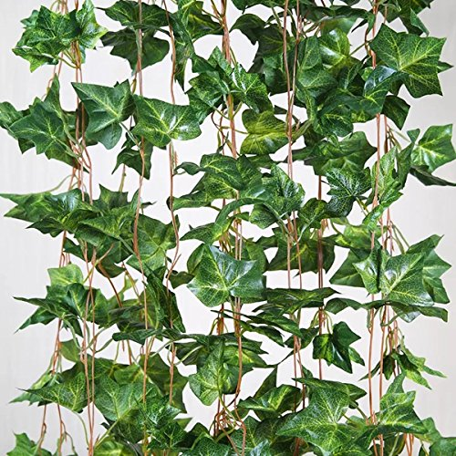 English Ivy Flowers - Eastern Fashional Life English Ivy Silk Greenery Wedding Party Garlands(40 Feet)