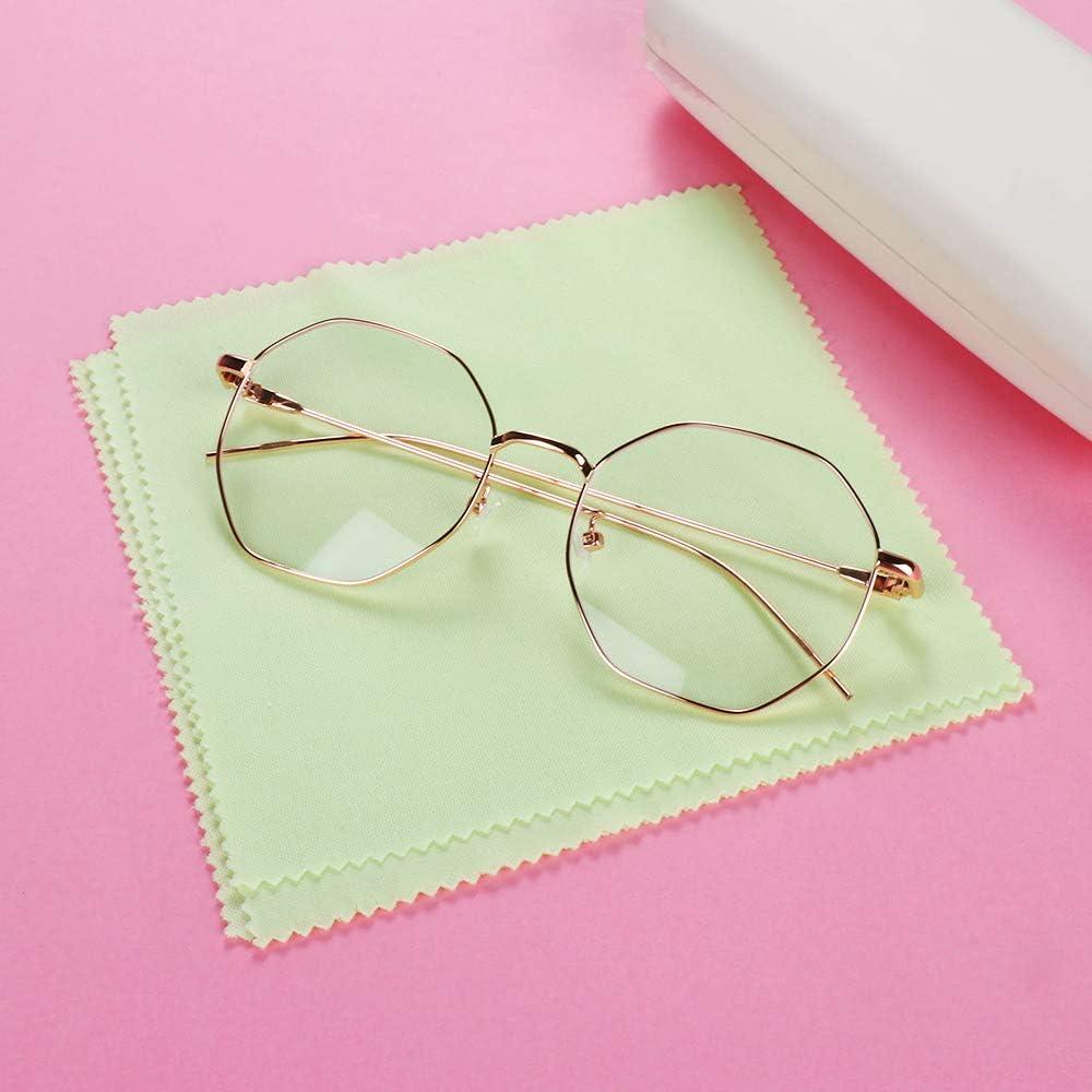 SKONHED Eyeglasses Wipes Microfibre Fiber Cleaning Cloths TV Screens Easy Washing Household Lens Cleaner 10pcs Random Color