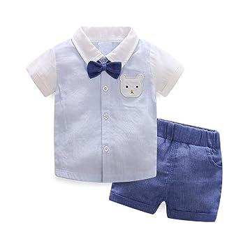 a420d5477c020 AIKSSOO 子供服 tシャツ ショートパンツ ボーイズ おしゃれ 蝶ネクタイ 2点セット 猫柄