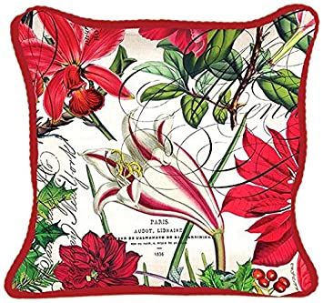 Michel Design Works Decorative Square Throw Pillow, 18 x 18 , Holiday