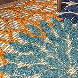 Nourison Aloha Indoor/Outdoor Floral Blue