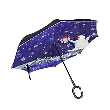 31a41620d4b4 Amazon.com : ALAZA Double Layer Inverted Snowman And Santa Clause ...