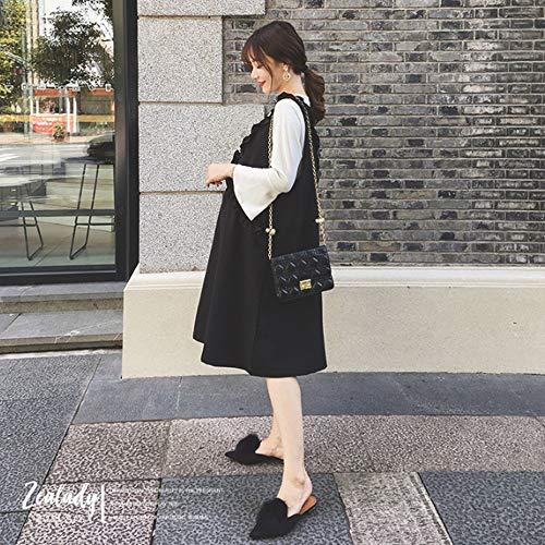 Modelli Invernale Dimensioni Nero Vestito Uioy colore Autunno Termine Nuove Lungo Moda Femminile 2018 A Nero Incinta Di Vestiti Abbigliamento Gonna Donne Usura Inverno L Maternità E gwx8Aq4wH