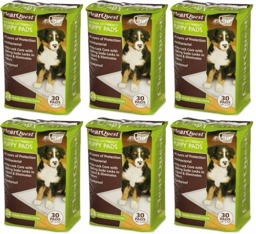 ClearQuest Max Absorbency Puppy Pads 22'' x 23'', 180ct (6 x 30ct) by ClearQuest
