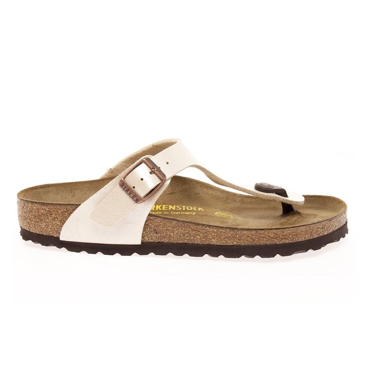 Birkenstock Women's 943871-Off Style Gizeh Sandal, Off-White, 40
