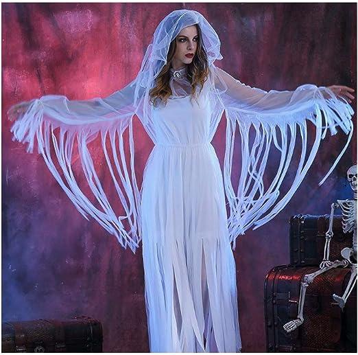 HUILI Disfraz de Novia de Vampiro de Halloween para Mujer Disfraz ...