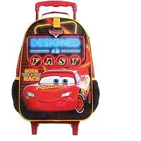 Mala Escolar G c/ rodinhas Carros Easy, Dermiwil, 37329, Vermelho e Preto