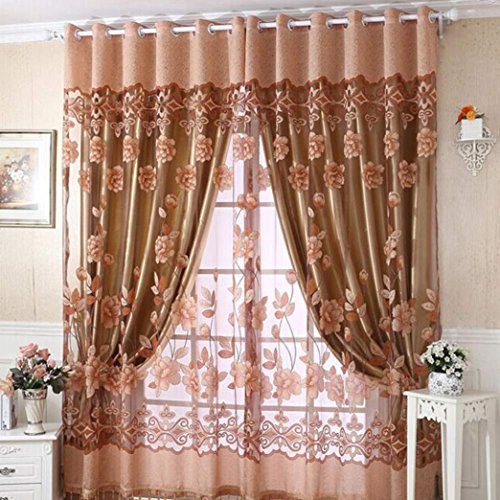 (Mchoice Home Fashion Print Floral Voile Door Curtain Window Room Curtain, 78.74