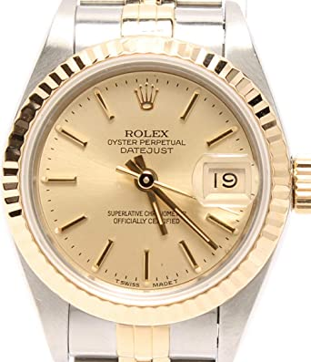 f428a94528 ロレックス 腕時計 オイスターパーペチュアル デイトジャスト 自動巻き ゴールド ROLEX レディース 【中古】