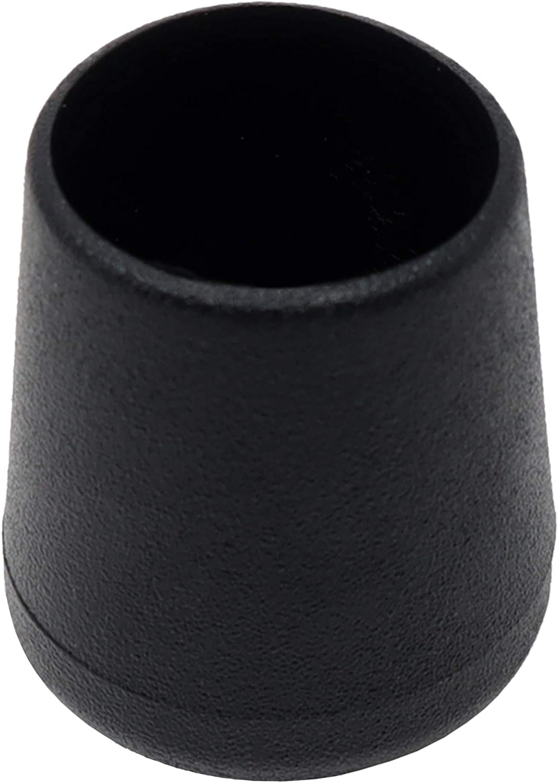 Adsamm Lot de 16 capuchons de chaise /Ø 20 mm pour tubes ronds /Ø 20-21 mm Noir//rond//noir