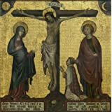 Oil painting 'unknown,Calvary of Hendrik van Rijn,about 14th century' printing on Perfect effect Canvas , 16x16 inch / 41x41 cm ,the best Bathroom decoration and Home gallery art and Gifts is this Imitations Art DecorativeCanvas Prints