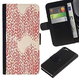 APlus Cases // Apple Iphone 6 4.7 // Rojo Blanco Diseño fondo de pantalla Arte // Cuero PU Delgado caso Billetera cubierta Shell Armor Funda Case Cover Wallet Credit Card