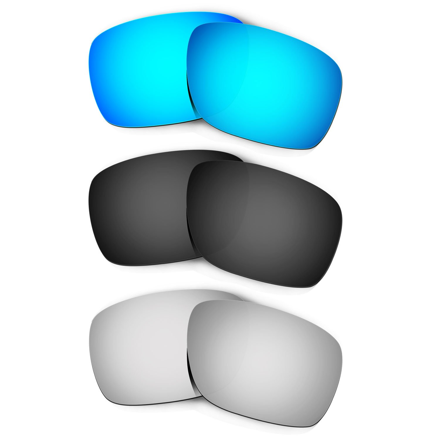 Hkuco Plus Replacement Lenses For Oakley Turbine - 3 pair Combo Pack
