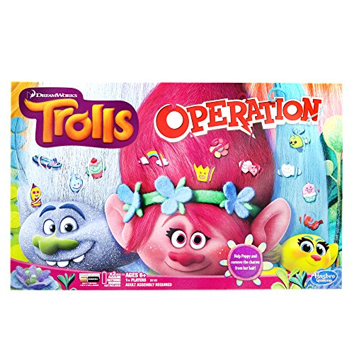 Hasbro Trolls Operation Board -