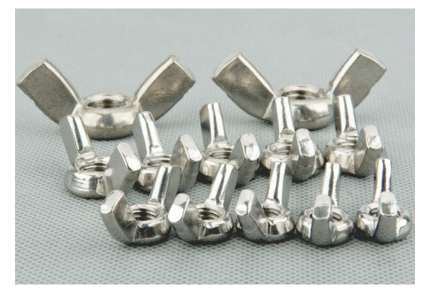 no logo Screw Nut 25 Pieces 304 Stainless Steel Wing Nuts Butterfly Nuts M6 Metic Threaded