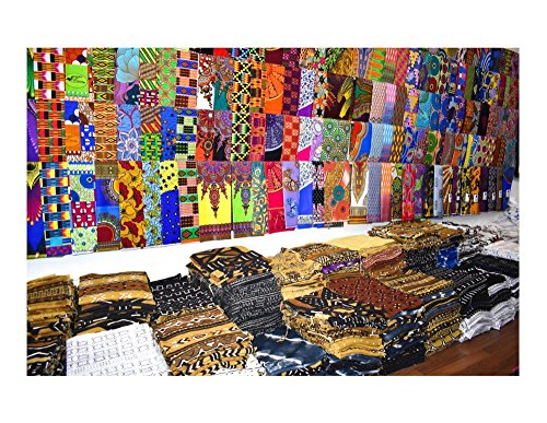 Random 10 Fat Eighth Fabric Bundle African Quilt Fabric | Fat Eight Fabric Mixed Ankara Print Fabric Craft Supplies WB166 by Tess World Designs (Image #3)