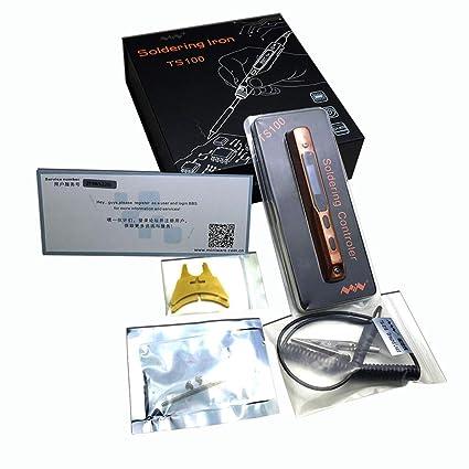 Homyl TS100 OLED Digital Pequeño Soldador de Soldadura Programable Inteligente
