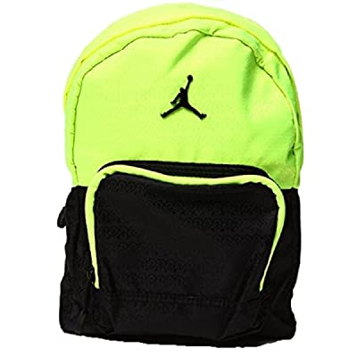 Nike Air Jordan Small Mini Preschool Boys and Girls Black and Green Volt Backpack Bag 30%OFF