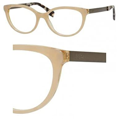 1e26cc9e873b FENDI Eyeglasses 0079 0E0O Beige Pearl Beige 53MM at Amazon Men s Clothing  store