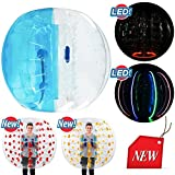 SELF 5ft Diameter, Bubble Soccer Ball, Human Hamster Zorb Ball for Kids Adults Parties Rentals (Blue and Clear)