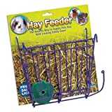 HAY FEEDER WITH SALT LICK & HANGER FOR RABBIT GUINEA PIG FERRET FEED FOOD RACK