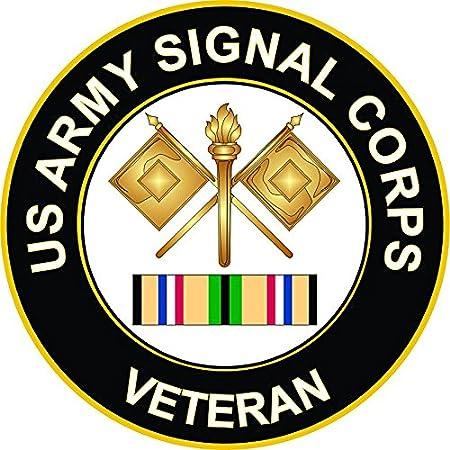Amazon Com Army Signal Corps Gulf War Veteran 5 5 Inch Decal