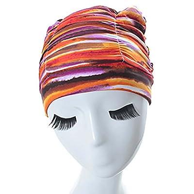 Bonnet de bain Bonnet de natation Tablette imperméable Bonnet de bain adulte Mode Impression Bonnet de bain Bonnet en caoutchouc sans couture Bonnet de bain (Couleur: Style-1)