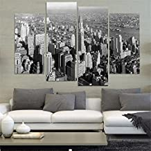 4 Piece Wall Painting Black And White New York City Home Decor Art Picture Paint On Canvas Prints