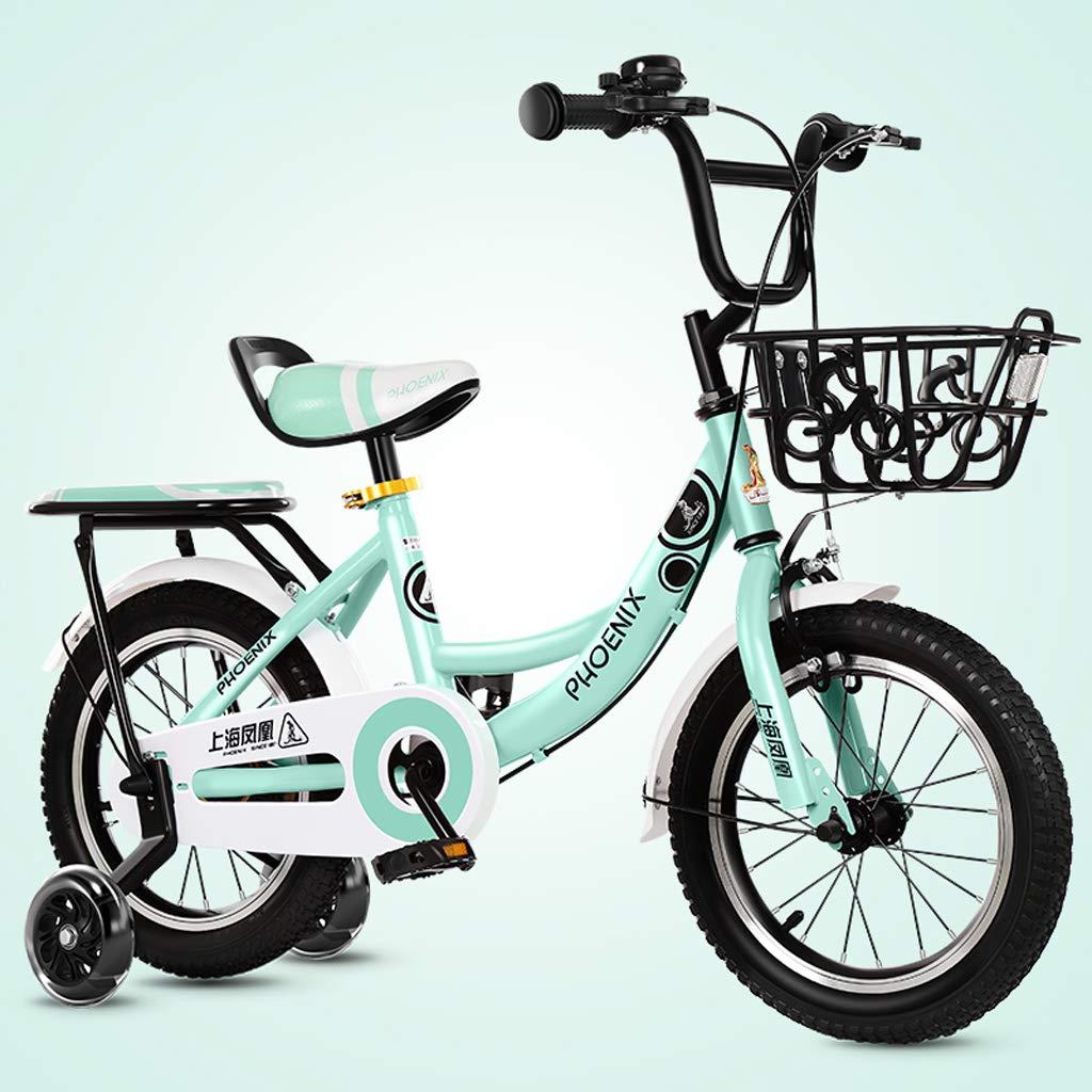 Biciclette per bambini, Bici per bambini 2-8 anni, Triciclo per pedale per bimbo, Telaio in acciaio ad alto tenore di carbonio, Ruota ausiliaria illuminata, 4 dimensioni (12 pollici   14 pollici   16