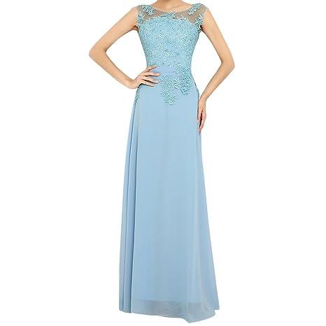 Molly Mujeres Rebordeó El Encaje Prom Vestido Vestido De Noche 5XL Cielo Azul