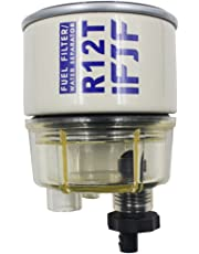 ifjf automotive replacement filter and nylon collection bowl of r12t fuel  filter/water separator 120at